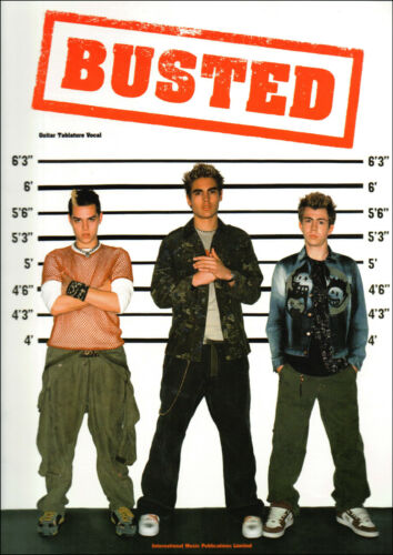 BUSTED FOR GUITAR TAB /& VOCALS Sheet Music Book Songbook Shop Soiled Cover