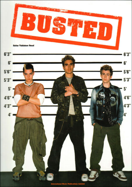 BUSTED FOR GUITAR TAB & VOCALS Sheet Music Book Songbook Shop Soiled Cover