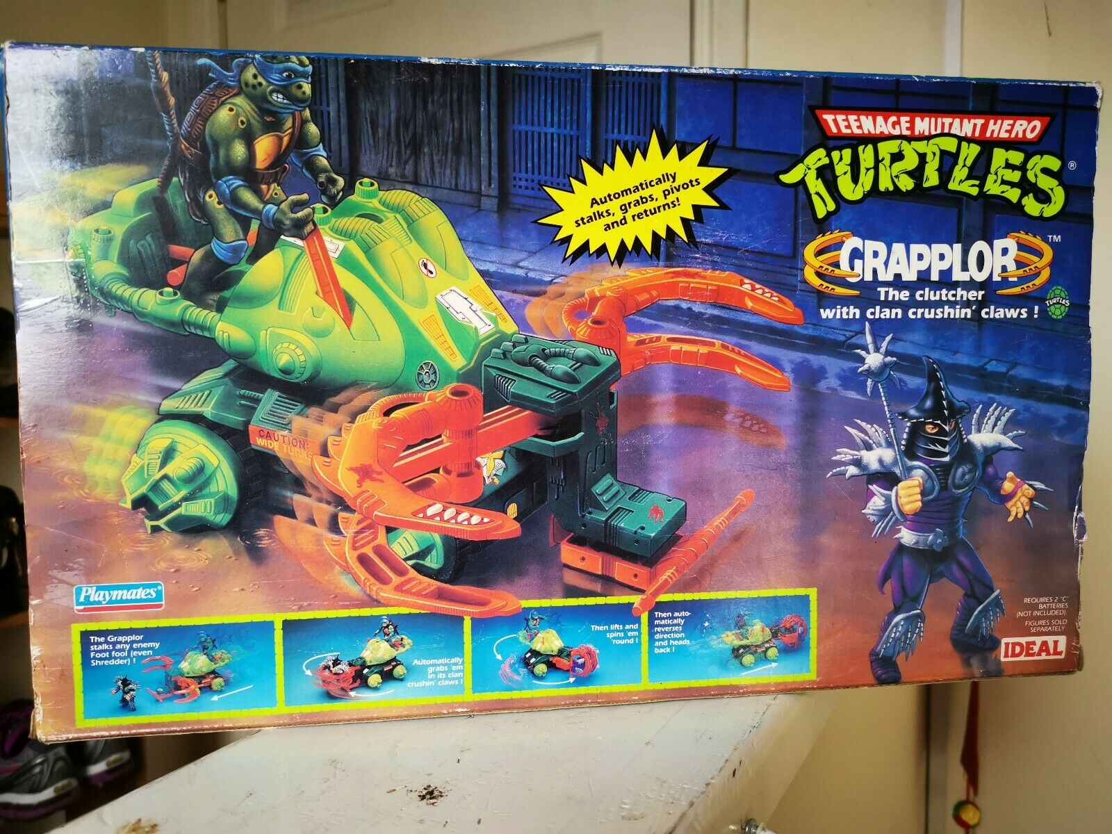 1989 GRAPPLOR TMNT TEENAGE MUTANT HERO TURTLES NINJA Playmates BNISB  Nuovo  buona reputazione