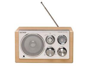 RADIO DESIGN RETRO VINTAGE AM/FM ENTREE AUX LECTEUR MP3... FINITION ...