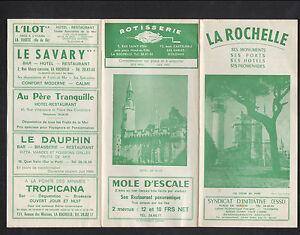 LA-ROCHELLE-17-Tract-Depliant-Touristique-PLAN-amp-COMMERCES-en-1966