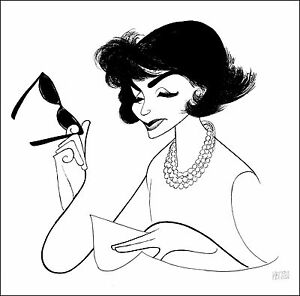 Al-Hirschfeld-039-s-JACKIE-AN-AMERICAN-LIFE-Hand-Signed-Limited-Edition-Lithograph