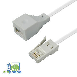 BT-Telephone-Extension-Cable-RJ11-UK-Lead-BT-Phone-Fax-Modem-Socket