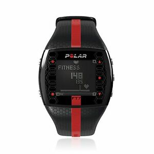 Polar-FT7M-Men-039-s-Fitness-Heart-Rate-Monitor-Black-Red-90039173