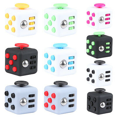 Magic Fidget Cube Anxiety Stress Relief Focus 6-side Gift For Adults&Child New