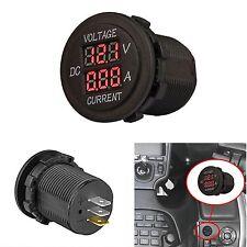 Dc 12v 24v Car Motorcycle Led Digital Display Voltmeter Ammeter Meter Waterproof
