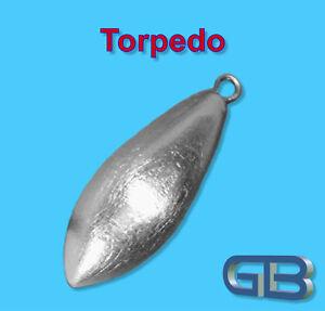 Torpedo-Blei-mit-Ose-80g-90g-Angelblei-Grundblei-Karpfenblei