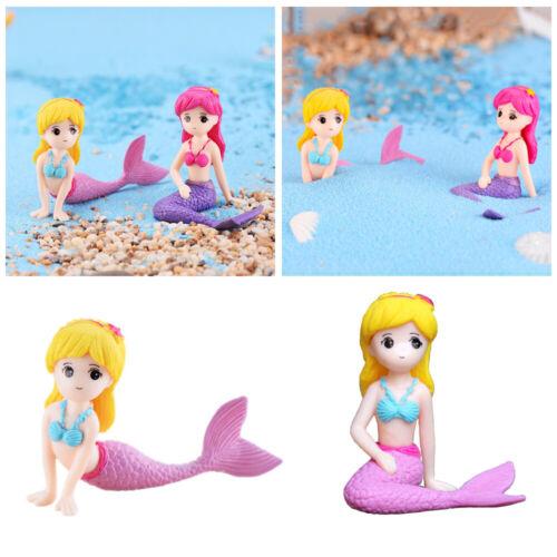 Dollhouse Fairy Garden Mermaid Figurines Miniature  Princess Home Decor