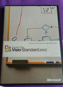 MICROSOFT-VISIO-2003-STANDARD-GENUINE-RARE-SOFTWARE-RETAIL-WITH-PRODUCT-KEY