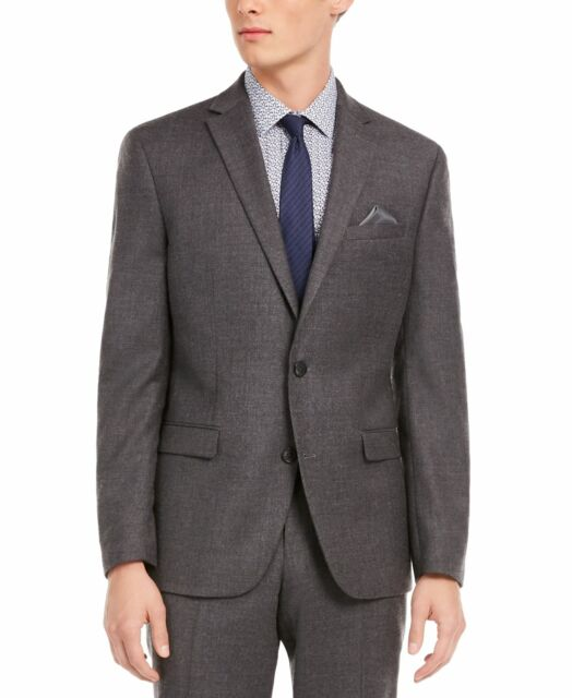 Bar III Mens Suit Jacket Gray Size 36S Slim Fit Notch Collar Wool $425 #190