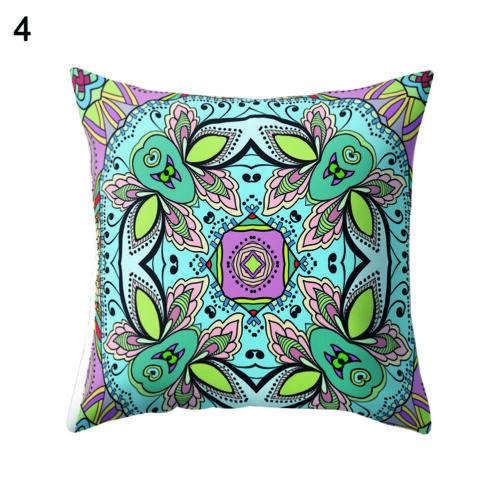 KM/_ CO/_ 45x45cm Ethnic Retro Symmetrical Print Throw Pillowcase Decor Cushion