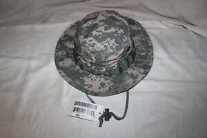 ec3b12c9af3 NWT US Army Military ACU DIGITAL Boonie Hat Sun Cap Authentic size 6 ...
