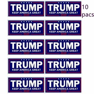 Donald-Trump-For-President-2020-Bumper-Sticker-Keep-Make-America-Great-Decal-x10