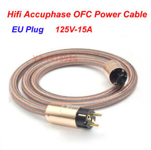 Hifi-Accuphase-Power-Cable-High-Purity-OFC-Power-Cord-EU-Standard-Plug-125V-15A