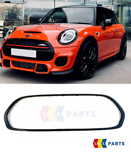 MINI-NEW-GENUINE-F55-F56-F57-JCW-FRONT-GRILL-TRIM-SURROUND-PIANO-GLOSS-BLACK