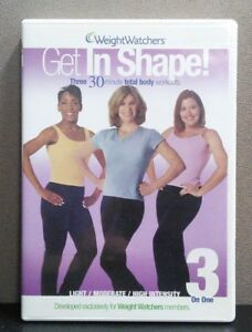 Details about Get In Shape - Weight Watchers Three 30 Min Total Body  Workouts (DVD) LIKE NEW
