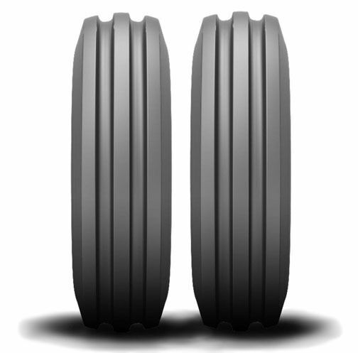 Two Tires 400x19 4.00-19 Deestone F2 3 Rib Front Tractor With Tubes 4ply 40019 for sale online