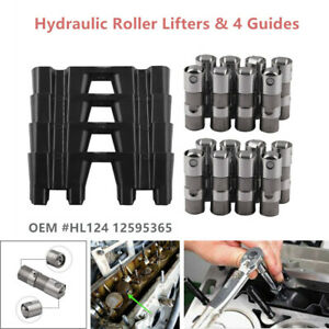 Performance-Hydraulic-Roller-Lifter-Kit-amp-4-Trays-for-12499225-HL124-LS7-LS2-16GM