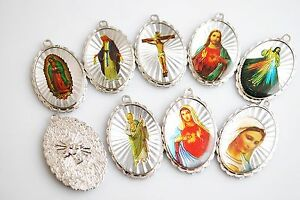 Details about Wholesale 10Ps Catholic Religious Crosses Enamel Medals  Pendants Crucifixes 40mm