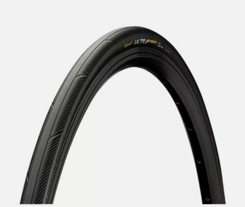 Continental Ultra Sport III FOLDING Road Bike Tyre 700 x 25c BLACK