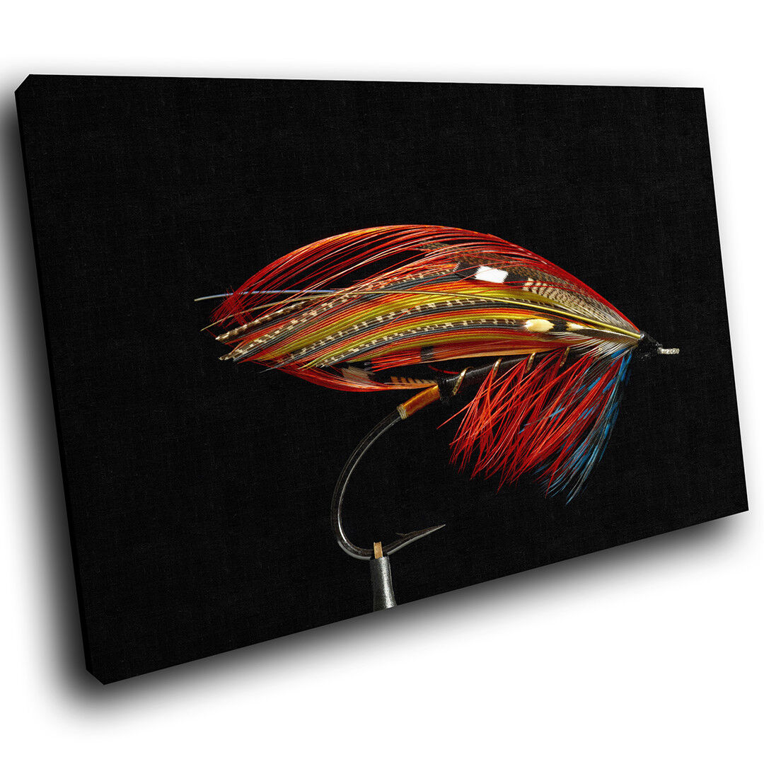 A535 Fishing Lure Fly Insect Funky Animal Canvas Wall Art Large Picture Prints