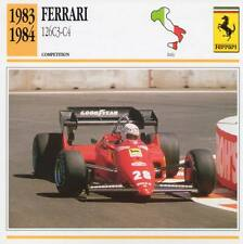 1983-1984 FERRARI 126C3-C4 Racing Classic Car Photo/Info Maxi Card