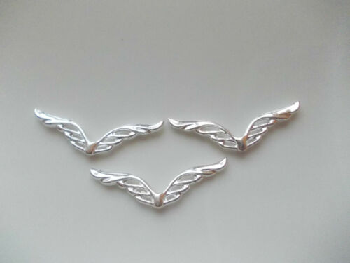 20 XXL Engel Flügel 41 mm Basteln filigrane Spacer silber antik silber Auswahl