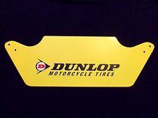 Vintage Dunlop Motorcycle Tire Sign Original Gas Station Garage Motocross Racing