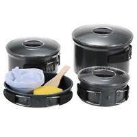 15pcs Outdoor Pot Cooking Utensil Pot Set Cookware Tableware Bowl Cooker Aa J7j2
