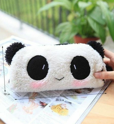 Soft Cute Plush Cosmetic Makeup Cartoon Storage Bag Pen Pencil Case Pouch New