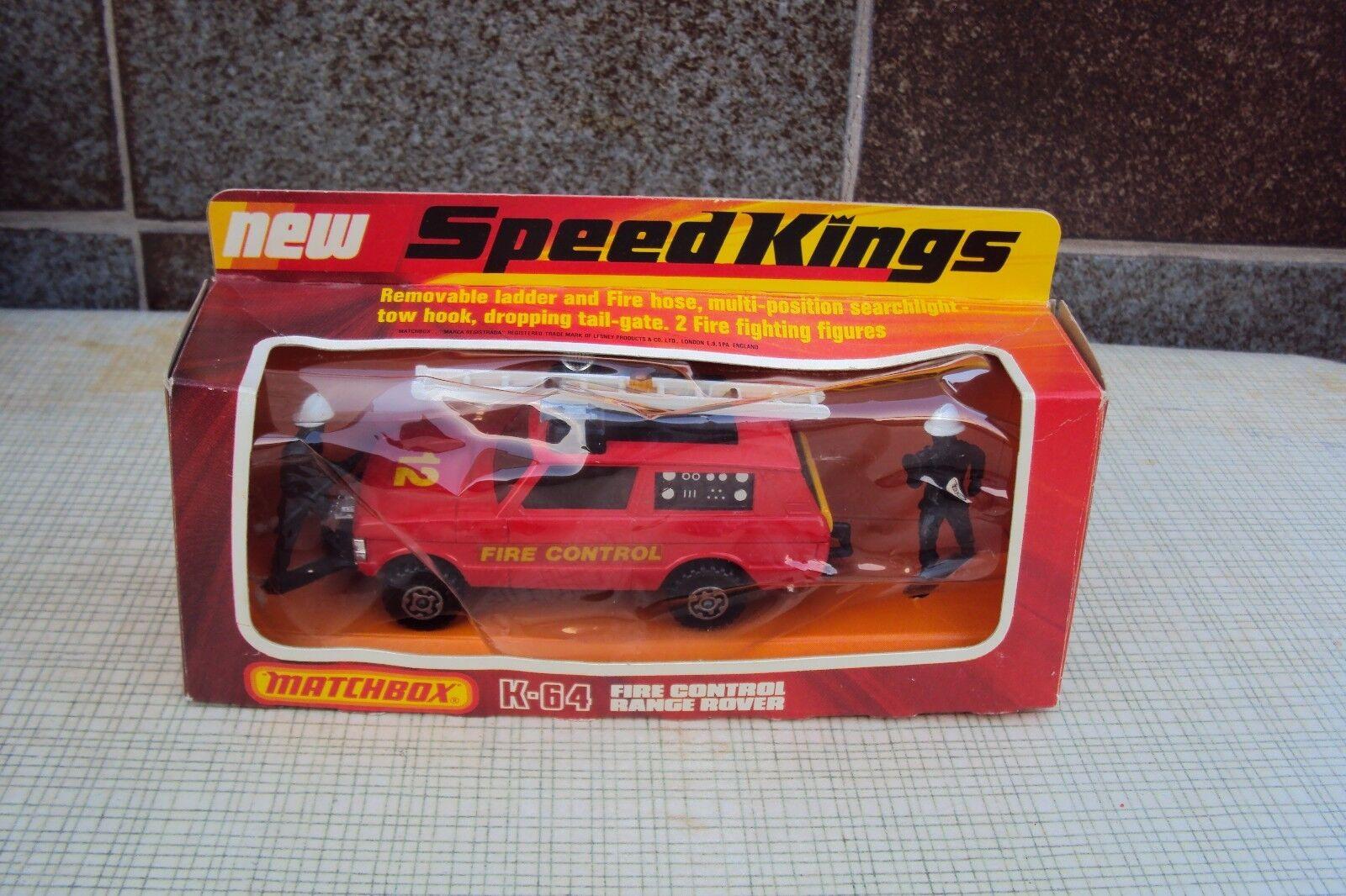 MATCHBOX SUPERKINGS SPEEDKINGS K-64 von FIRE CONTROL RANGE ROVER  von K-64 1976 f6369c