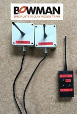 Bowman Clay Pigeon Trap Wireless Radio Pairs 2 Receivers