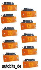 Begrenzungsleuchte-Positionsleuchte-Gelb-Orange-LKW-10-Stueck-LED-24-V
