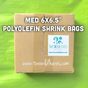 """75g 500-6/""""x6.5/"""" Polyolefin Shrink Bags BEST Wrap Available! smell through"""