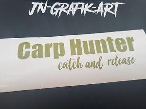 Carp Hunter Karpfen Angeln Aufkleber Auto Style Sticker Tuning
