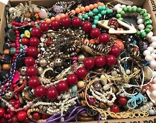 Huge Junk Vintage Jewelry Crafting Loose Beads Crafting Lot, 15 lbs