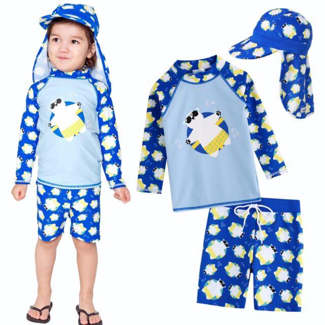 "NWT Vaenait baby Toddler Kids Boys Rashguard Bathing suit Set /""Captain/"" 2-7T"