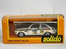 Solido gam2 N° 61 Ford Escort Rally #15 Vatanen New in Box 1//43