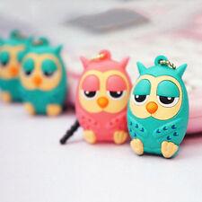 3.5mm Cute Owl Anti Dust Stopper Earphone Jack Plug Cap For iPhone Samsung GZ