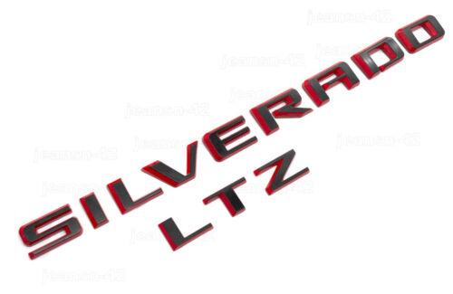 2019-21 Black Red Silverado LTZ Tailgate Letter Logo Emblem Nameplate Badge OEM