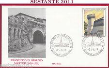 ITALIA FDC ROMA MURA DI CORINALDO FRANCESCO DI GIORGIO MARTINI 1989 TORINO U228