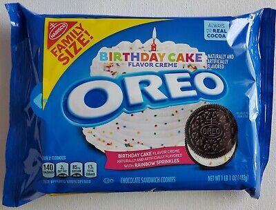 Tremendous New Nabisco Oreo Birthday Cake Creme Chocolate Cookies Free Personalised Birthday Cards Vishlily Jamesorg
