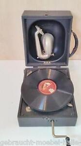Mechanische Musik Grammophone United 90 Jahre Altes Decca Junior Portable Grammophon Funktionell Im Guten Zustand