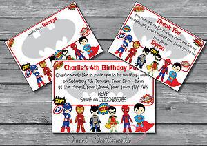 Superhero-Personalised-Party-Birthday-Invitations-invites-Boys-Girls-Kids-12