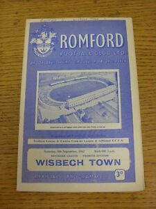 08091962 Romford v Wisbech Town  Writing On Cover Small Marks Team Changes - <span itemprop=availableAtOrFrom>Birmingham, United Kingdom</span> - Returns accepted within 30 days after the item is delivered, if goods not as described. Buyer assumes responibilty for return proof of postage and costs. Most purchases from business s - Birmingham, United Kingdom