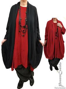 PoCo DeSiGn LAGENLOOK Long-Shirt Tunika Bluse 48 50 52 54 56 58 XL-XXL-XXXL