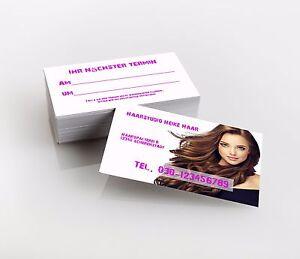 Details Zu 1 000 Visitenkarten Friseur Haarstudio Premiumqualität Direkt Hier Gestalten