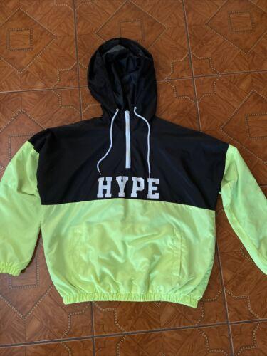 Neon Green And Black Hype windbreaker hoodie