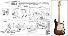 Stratocaster-Style Electric Guitar Full-Scale Plan