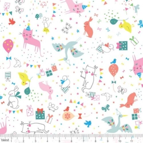 Blend Hip Hooray 121 101 02 2 White Party Animal Cotton Fab